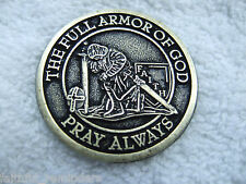 Armor of God Coin 1 1/2 inch $.82 -  LOT OF 25 (WITH WEB SITE)
