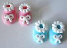 96 Edible Baby Bootie Cupcake Toppers Decorations Shower Cakes Christening Booty