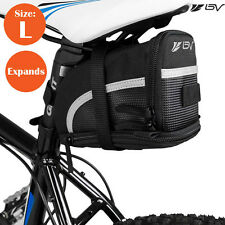BV Bicycle Seat Saddle Bag, Bike Rear Tail Strap-On Pouch Large NEW SB1-L