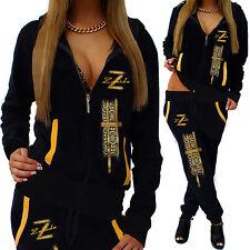 Ladies Leisure Suit Jogging Pants Jacke Trackies Fitness Tracksuit ZIP NEU