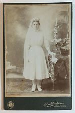 Victorian Portrait Photo, Girl w/ Decorated Table, Painted Backdrop, Ehm Studios