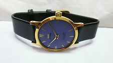 FREE SHIP SUPER SLIM HMT SONA WINDING MEN GOLD PLATED  VINTAGE INDIA MADE WATCH