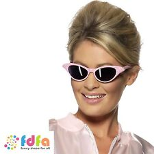 50s PINK FLYAWAY GREASE SANDY SHADES SUNGLASSES FRENCHY RIZZO ladies fancy dress