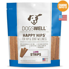 Dogswell Happy Hips Strips Lamb Dog Treats, 5-Ounce Bag