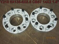 "2 QTY 1.5"" 6135-6550 6x135-6x5.5 Wheel Spacer Adapters CB 87mm 14x2"
