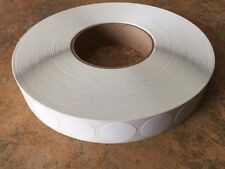 """White Non Perf 1"""" Wafer Seals 5000 per Roll 1"""" Round TAB Labels Great Stickers"""