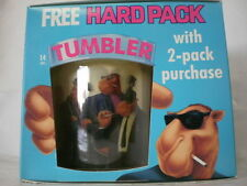 Two (2) Joe Camel 'The Hard Pack' Cups/Tumblers ThermoServ Plastic NEW IN BOX