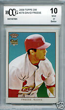 DAVID FREESE Pirates 2009 Topps T206 rookie BGS BCCG 10 MINT !!