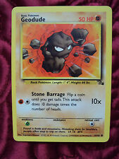 1999 Pokemon Trading Card Geodude 47/62 Fossil Collection
