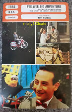 US Comedy Pee Wee's Big Adventure Tim Burton French Film Trade Card