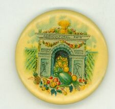 Vintage 1900s Agricultural State Fair Advertising Pinback Button rare antique!