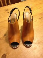 Clarks womens shoes, Tan and black, UK size 8