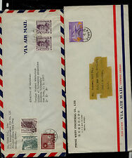 Korea    2  airmail  covers  to  US       MS0501