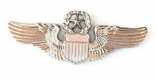 USAF Pilot Wing Military Sweetheart Silver Finished Pin Badge MOD Approved