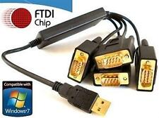 USB to 4 x RS232 Serial Converter Adapter - High Quality FTDI CHIPSET WIN 7 8