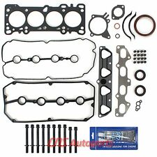 Fits: 2003 04 05 Kia Rio 1.6L Engine Full Gasket Set+Head Bolts Kit+Silicone A6D