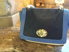 EMMA FOX HANDBAG PURSE BAG   Three tone/ navy /sky blue and cream