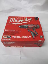 "New MILWAUKEE 2408-20 M12 Cordless 3/8"" Hammer Drill/Driver - Free Shipping"
