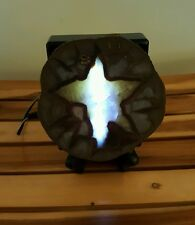 DRAGON STONE SEPTARIAN STAR SLAB ON LIGHT BASE