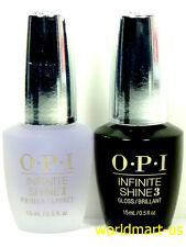 OPI Infinite Shine Polish Nail Lacquer Primer Base Coat & Gloss Top Coat 0.5oz