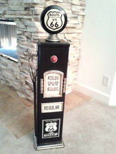 Route 66 Black Gas Pump Cabinet. Man Cave/Gameroom Decor.