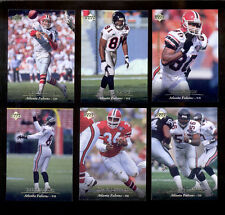 1995 UD Atlanta Falcons Set JEFF GEORGE CHRIS DOLEMAN CRAIG HEYWARD ANDRE RISON