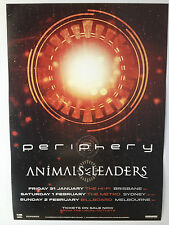 PERIPHERY + ANIMALS AS LEADERS 2014 Australian Tour Poster A2 ****NEW****