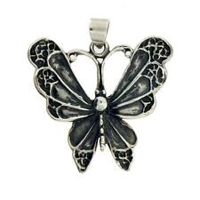 Antiqued Butterfly Pendant Sterling Silver Jewelry