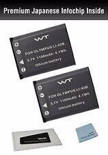 WT-LI42BK2 WT Battery (2pack) for Olympus LI-40B,LI-42B,LI-41C,D-630,D-720,D-725