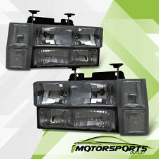 1994-2000 Chevy/GMC C/K 1500/2500/3500 Smoke Headlights+Corner Signal Lamps Set