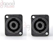 2 pz Speakon 4 pin da femmina Jack compatibile cavo audio pannello Socket connettori