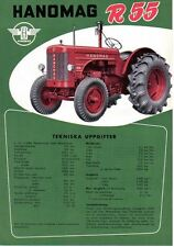 Hanomag R55 Tractor Original Sales Brochure In Swedish