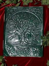 BEAUTIFUL TREE OF LIFE LEATHER JOURNAL/BOOK OF SHADOWS ~ LARGE ~ HAND MADE PAPER