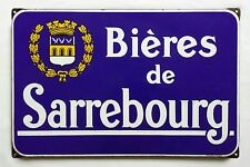 Plaque émaillée publicitaire Bières de SARREBOURG - Brasserie de Lorraine - 57