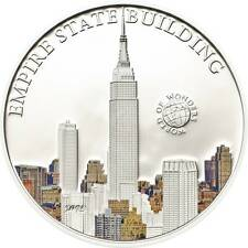 Palau 2013 5$ World of Wonders VII Empire State Building .925 Proof Silver Coin