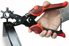 New Nouventi Leather Hole Punch 6 Sizes Heavy Duty Puncher Tool Hand Pliers
