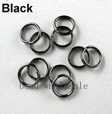 450PC Metal Double Loop Jumprings Split Open Jump Rings 4/5/6/8/10/12mm hot sale