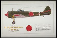 419088 Nakajima Ki 43 IIa Hayabusa Oscar A4 Photo Print