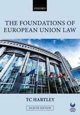 The Foundations of European Union Law, Very Good Condition Book, Hartley, Trevor
