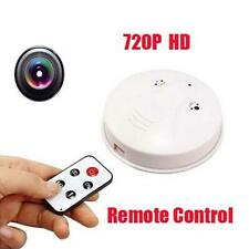 HD Cam Remote SmokeDetector Security DVR Pinhole Camera MotionDetection Nanny AD