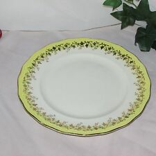 "DAINTY MISS LUNCHEON PLATE YELLOW GOLD LEAVES & BERRIES 8 7/8"" ENGLAND RARE"