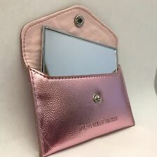 Victoria's Secret Beauty Rush Logo VS Compact Mirror With Pink Coin Case