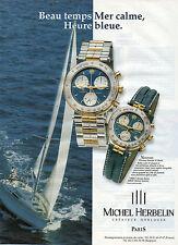 Publicité Advertising 1998  Montre MICHEL HERBELIN NEWPORT  créateur horloger