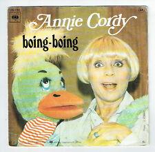 """Annie CORDY Disque Vinyle 45T 7"""" SP BOING BOING - PETIT PATE - CBS 5765 F Rèduit"""