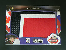 2015-16 Leaf ITG Heroes & Prospects PATCH Will Bitten Canada vs. Russia / 5