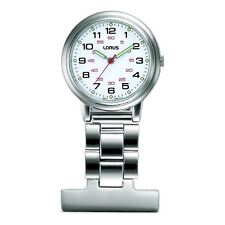 Lorus Nurses Fob Watch - Silver with White Dial