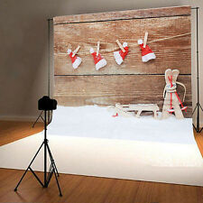 3x5ft Christmas Hat Photography Vinyl Background Gift Photo Studio Backdrop Prop
