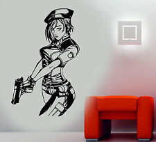 Jill Valentine Resident Evil Game Manga Amine Decor Vinyl Wall Sticker/Decal