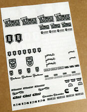 RC ROCK CRAWLING 'ULTIMATE ADVENTURE' RECON black & white Decals stickers