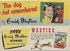 WEETIES AUSTRALIA CEREAL GIVEAWAY PROMO ENID BLYTON THE DOG WHO REMEMBERED VG
